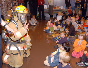 Firefighter Story Time at the CentralBranch