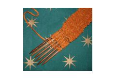 Weaving sticks in use